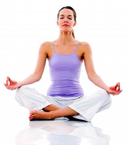 Girl meditating for good mental health