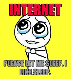 Internet addiction cartoon with captions