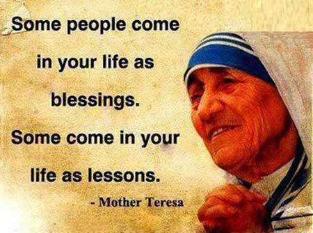 Life lessons by Mother Teresa