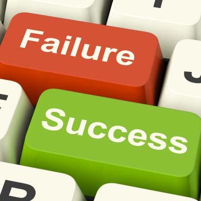 Keyboard keys failure and success