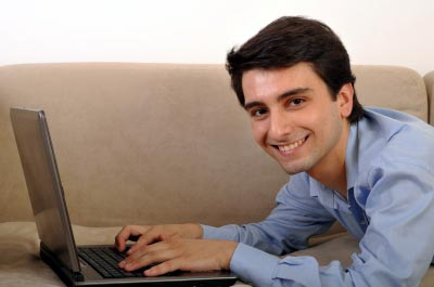 Man working at flexible work hours in a week