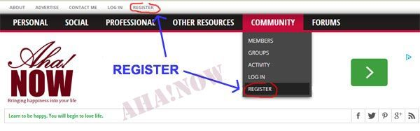 Registration links for membership