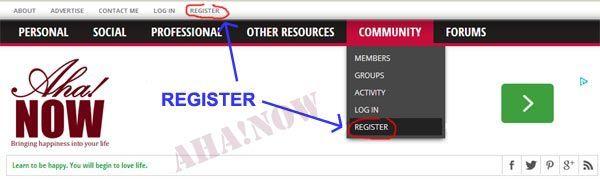 Registration links for membership