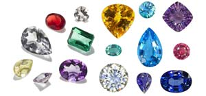 gems of different colors