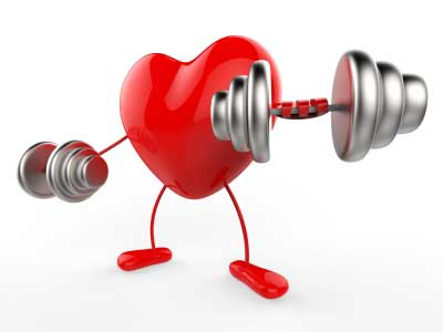 A heart woking out for good health