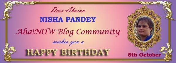 Birthday card for Ahaian Nisha Pandey from Aha!NOW Blog Community