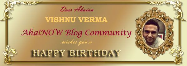Birthday wishing card for Ahaian Vishnu