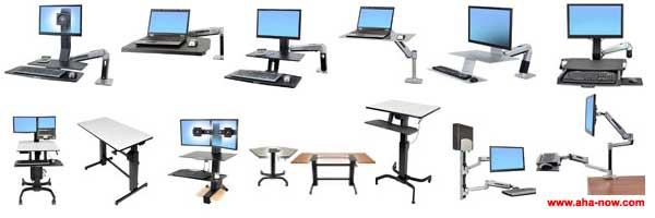 All models of sit to stand products of Ergotron