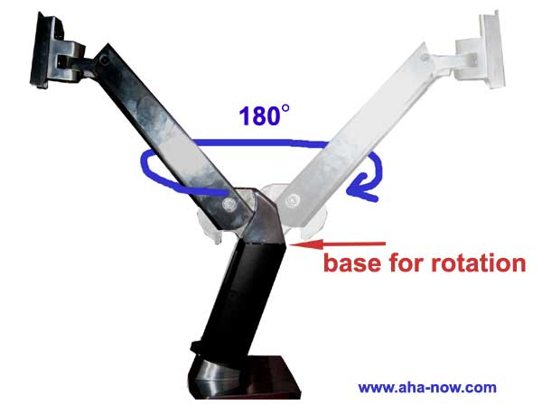 Workstation arm rotate