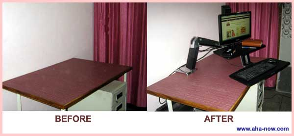 Before and After Installation of Workstation