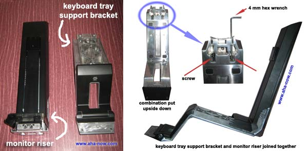 Sit-stand workstation combination fixed