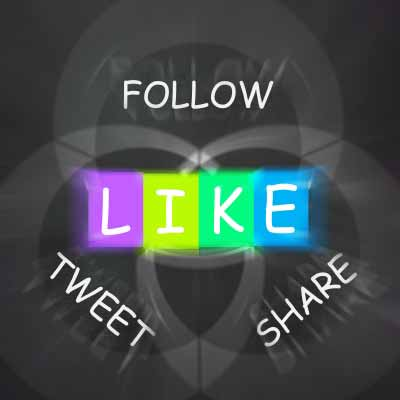 Image showing follow, tweet, like share words