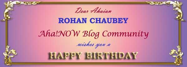 Ahaian Rohan Birthday