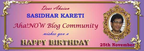 Ahaian Sasidhar Kareti Birthday Photo Card