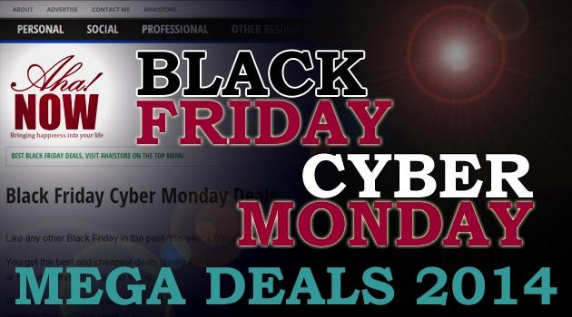 Aha!Now Black Friday Cyber Monday Deals Banner