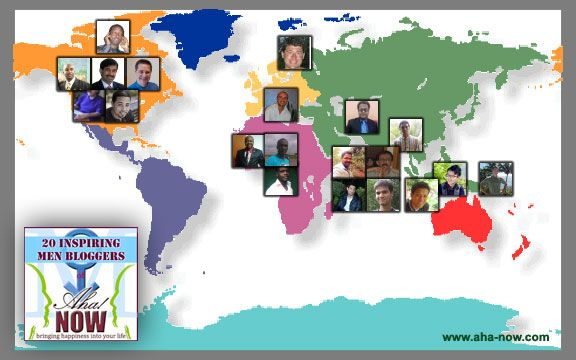 Top Men Blogger Map
