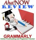 Image of Aha!NOW Grammarly review showing a professor writing in a book