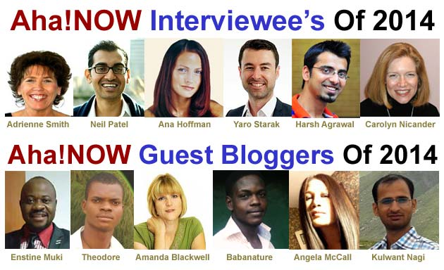 The interviewee and guest blogger of Aha!NOW photos  2014