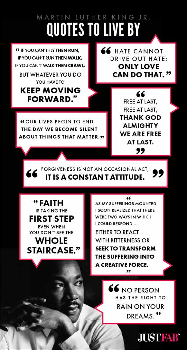 Infographic of Martin Luther King quotes