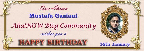Ahaian Mustafa Birthday Card