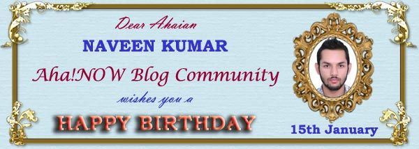 Birthday card of Ahaian Naveen Kumar