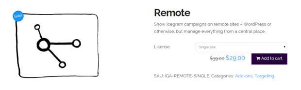 Icegram remote menu screenshot