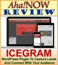 Poster of the Aha!NOW review of Icegram WordPress plugin