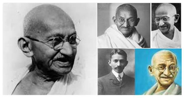 Collage of Mahatma Gandhi Photos