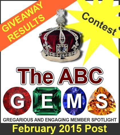 GEMS Of The ABC, Giveaway Winners & A Contest - February 2015