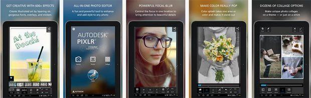 Screenshots of AutoDesk Pixlr Android App