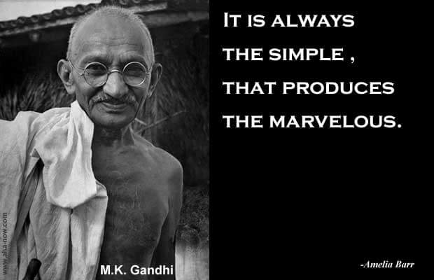 Picture of Mahatma Gandhi with a quote