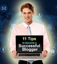 Man with laptop in hand showing how to become a successful blogger