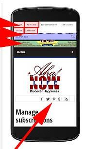 Website layout of Aha!NOW prior to making mobile-friendly