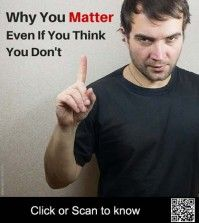 Image showing a man telling why you matter