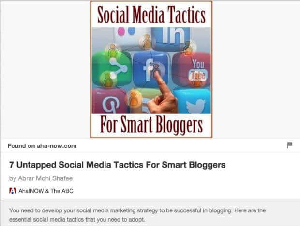 Pinterest blog post promotion shown with rich pins