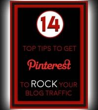 Poster showing the Pinterest blogging tips for blog traffic increase