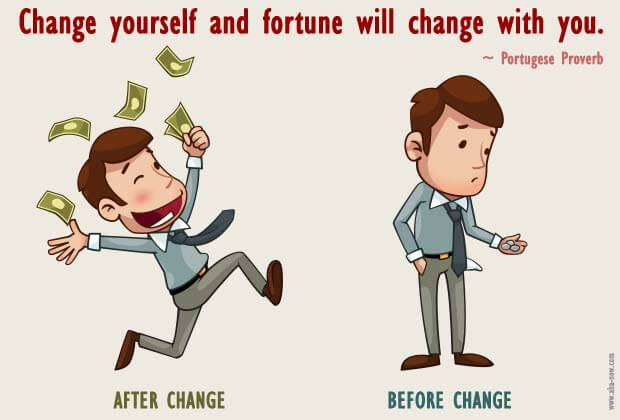 Image showing a man changing his fortune after changing himself