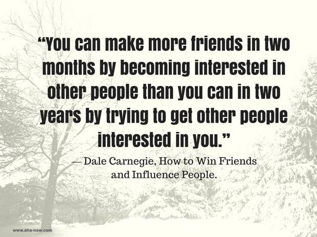 Quote of Dale Carnegie on making friends