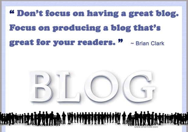 Quotation on blog by Brian Clark