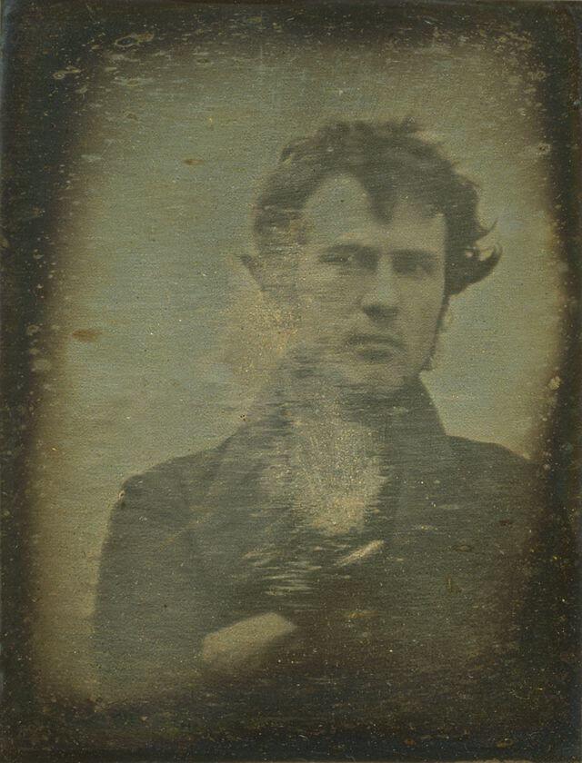 World's first selfie taken of a man