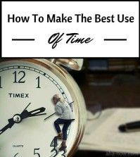 Image of a lady on a clock trying to make the best use of time