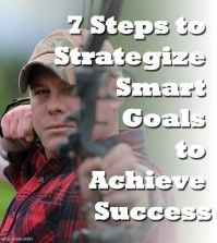 Man smartly shooting an arrow to his goal