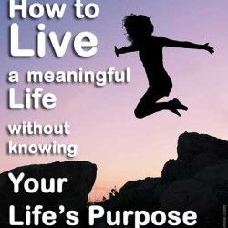 How to Live a Meaningful Life Without Knowing Your Life's Purpose