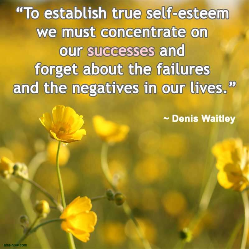 Concentrate on success to recover self-esteem