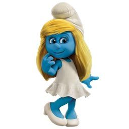 Smurf in a posture of a daydreamer