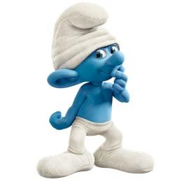 Smurf in a posture of doubting