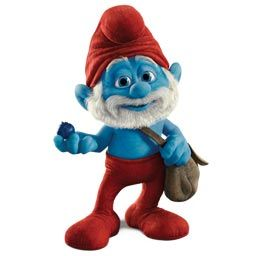 Smurf in a posture of fear