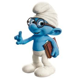 Smurf in a posture of reasoning