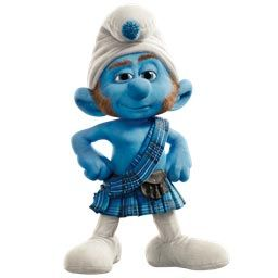 Smurf in a posture of being self-assured
