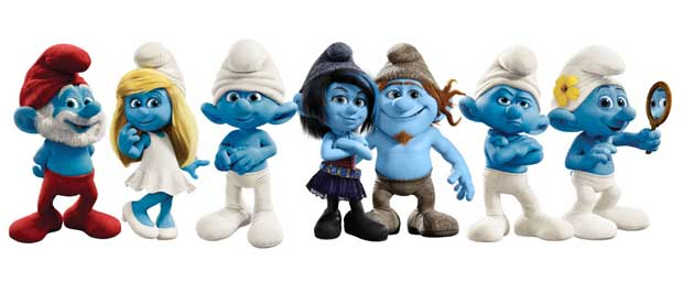 Smurfs in all forms of emotions